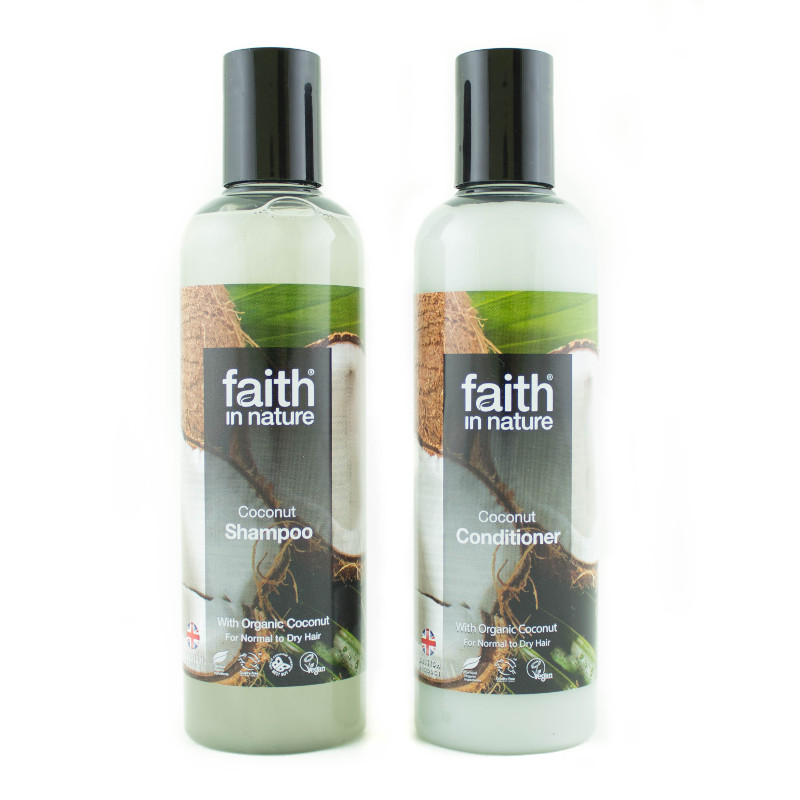 Kokosový šampon A Kondicionér Faith In Nature (2×250 Ml)